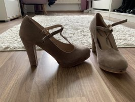 High heels taupe