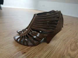 Buffalo London Sandales à talon haut gris brun cuir