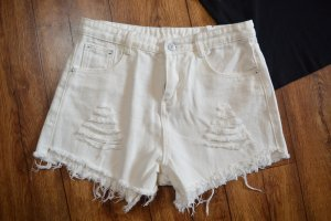 High Rise Jeans Hot pant weiss Gr. 38