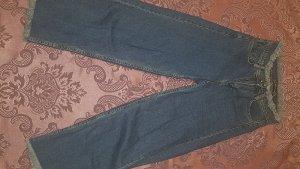 Jeans flare bleu acier-bleuet jean