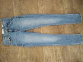 Mango Denim & Tees Hoge taille jeans azuur-korenblauw Katoen
