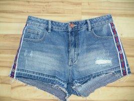 High Waist Jeans Shorts, blau, Gr.M (238-GV)