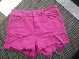 Benetton Jeans Shorts magenta cotton