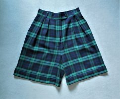 Georges Rech Pantaloncino a vita alta blu scuro-verde scuro Lana