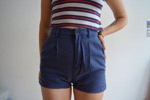 high waist shorts dunkelblau Zara