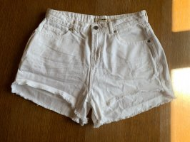 High waist shorts weiß
