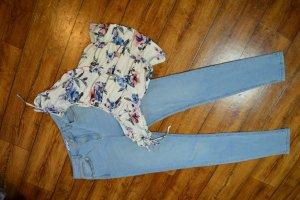 High Waist Skinny Jeans Nakd 38 hellblau