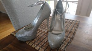 Aldo High Heels light grey-silver-colored