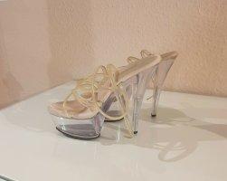 Pleaser Platform Sandals white