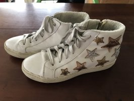 HighTop Sneakers mit Wedges im Used Look