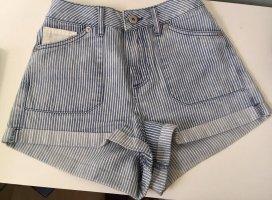 Bellfield High-Waist-Shorts white-azure