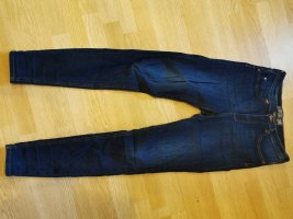 Amisu Hoge taille broek donkerblauw
