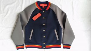Hilfiger Collection, Bomberjacke, blau-grau, 34 (US 4), neu