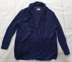 Hilfiger Denim Veste tricotée en grosses mailles bleu foncé laine