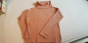 Hilfiger Denim - Rollkragenpullover aus Baumwolle Gr M in Blush