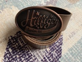 Hilfiger Denim Leather Belt brown-bronze-colored