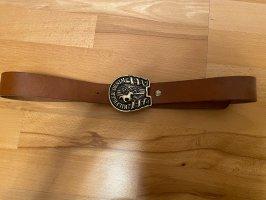 Hilfiger Cinturón de cuero marrón
