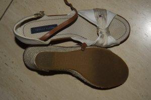 Hilfiger Sandalen beige braun, Gr. 41, einmal getragen