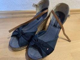 Hilfiger Wedges-Sandalette in dunkelblau