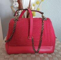 himbeer-rote Tasche, Tasche mit Klappe von Zara