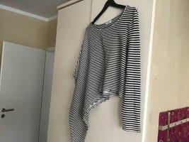 Only Sweter oversize w kolorze białej wełny-czarny