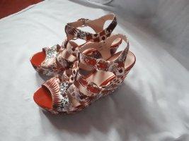 Kim Kay London Sandales à plateforme multicolore
