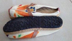 Beach Sandals multicolored textile fiber