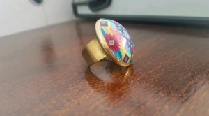 Hippie-Muster Ring
