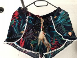 AIKI KEYLOOK Pantaloncino a vita alta multicolore