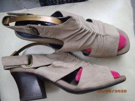 Sandales confort beige cuir