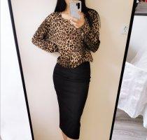Hochwertig Leo Leopard over size uber gross Animalprint Strick Jacke Tall Collection