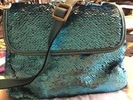 abro Shoulder Bag light blue leather