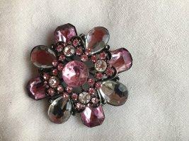 Brooch light pink-rose-gold-coloured