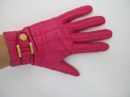 Tous Leather Gloves magenta leather