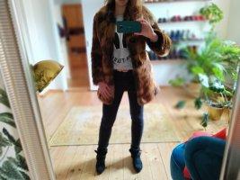 Urbancode Kurtka ze sztucznym futrem jasnobrązowy-brązowy