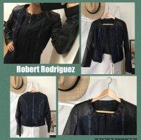 Robert Rodriguez Chaqueta de motociclista negro-azul oscuro