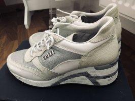 Cetti Lace Shoes white-silver-colored