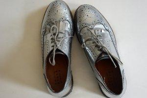 Hochwertige und elegante Schnürschuhe Brogues Schnürer in Silber von Another A