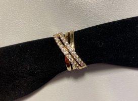MONCARA Złoty pierścionek Wielokolorowy