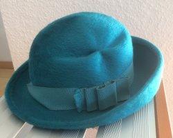 Cappello di lana turchese-petrolio