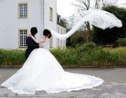 Sima Couture Suknia ślubna biały-w kolorze białej wełny