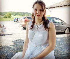 keine Ahnung Abito da sposa bianco