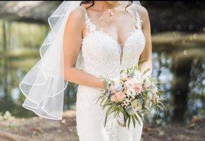 blue Suknia ślubna biały