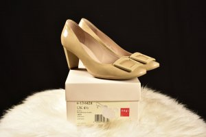 Högl Backless Pumps cream-beige leather