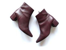 Högl Stiefeletten Gr. 39 6 bordeaux burgunderrot Spitz ankle boots