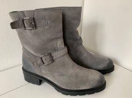 Hogan Botines de invierno gris Cuero