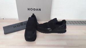 Hogan Slip-on Sneakers black leather