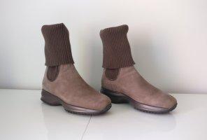 Hogan Halfhoge laarzen taupe-grijs-bruin