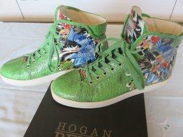 Hogan High Top Sneaker lime-green-green leather