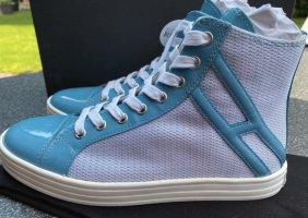 Hogan Rebel Sneaker High Top Gr 37 Lackleder neu Turkis